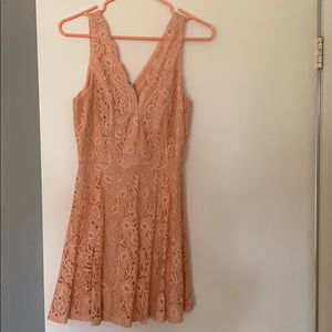 ANGL Peach Cocktail Dress